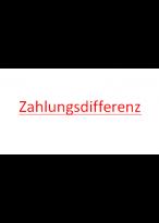 Zahlungsdifferenz 1 euro