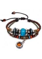 Fashionable Retro Unisex Cow Leather Woven Bracelets