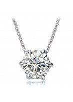 2 Carats Short Zircon Collar Bone Necklace For Lovers
