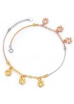 Muti Colour 925 Sterling Silver Fashion Anklets For Girls
