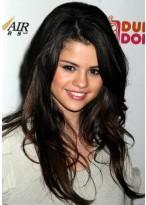 Selena Gomez Spitzenfront Wellen Remy Echthaar Perücke