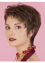 Elegant Kurz Haarschnitt Perücke