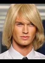 Kappenlose Kurze Blonde Gerade Synthetische Perücke