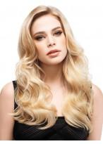 Lange Spitzenfront Wellen Blonde Synthetische Perücke