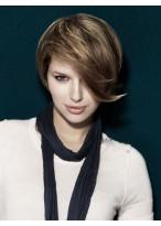 Modische 100% Echthaar Kurze Haarschnitt Perücke