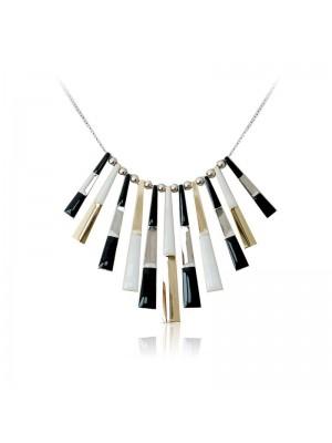 Bohemia Romantic Feeling Black And White Short Collar Bone Necklace