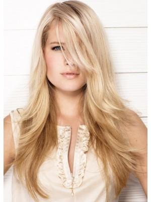Lange Stufige Frisur Gerade Perucke Synthetisches Haar Perucken