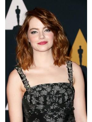Emma Stone Schulterlange Frisur Mittellange Perucke Neue Top