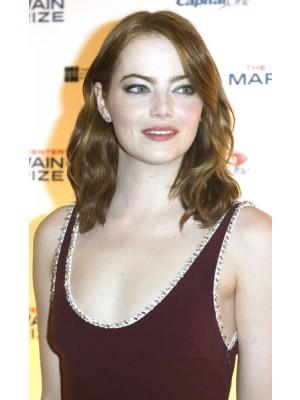 Emma Stone Schulterlange Frisur Mittellange Full Lace Perucke Neue