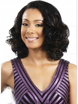 Mittellange Spitzenfront Wellen Haar Perücke Kaufen Mode