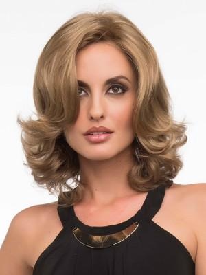Spitzenfront Mittellange Wellen Haar Perücke Kaufen Mode