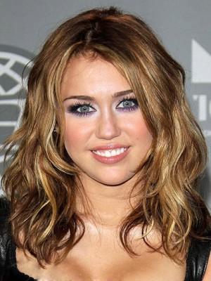 Miley Cyrus Modisch Neue Stil Haar Spitzenfront Perücke