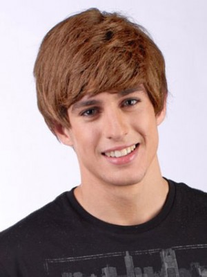 Short Capless Justin Bieber Costume Synthetic Wig Ladies Wigs For