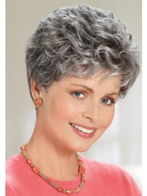 Neueste Weibliche Graue Haar Perücke