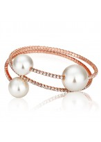Gold Plated With Diamond Pearl Fashion Bracelets For Beautiful Girls