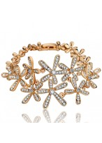 Luxury Charming Gold Plated With Austrian Crystal Bracelets