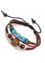 Retro Unisex Clay Cow Leather Couple Bracelets