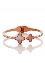 Classic Leaf Clover Design Fritillary Gold Plated Bracelets