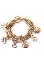 Multilayer Design Fashion Gold Rhinestone Bracelets For Girls