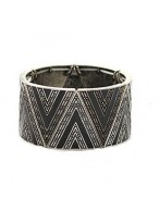 Triangle Printed Wide Design Alloy Made Bracelets For Girls