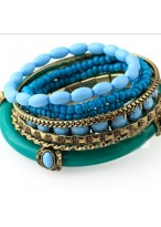 Manual Beads Wide Design Bracelets For Girls