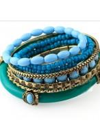Manual Beads Wide Design Bracelets For Girls