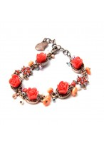Popular Retro Bodhi Flower Alloy Polymer Clay Bracelets