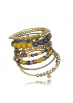 Hot Sale Retro Multi Alloy Acrylic Braceltes