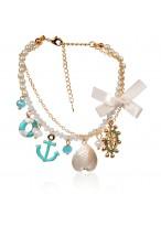 Popular All-Macth Alloy Shell Multi Bracelets For Brides