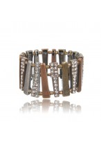 Retro Fashion Alloy Crystal Bracelets For Women