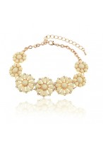 Life Like Summer Flowers Lovely&Romantic Alloy Crystal Bracelets