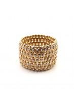 Fashionable Vuenna Gold Twinkling Diamond Bracelets For Girlfriends