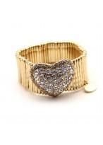 Fashionable Prague Lover Gold Twinkling Diamond Bracelets