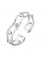 990 Sterling Silver Heart In Heart Unique Bracelets For Women