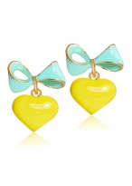 Women's Lovely And Fashionable Peach Heart Earrings