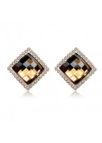 Big Fully-Jewelled Cubic Crystal Earrings