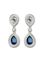 Women's Fashionable Peacock Spreads Its Tail Crystal Earrings