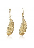 Fashionable Feathered Alloy Earrings