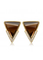 Women's Fashionable Triangle Diamond Inlaid Earrings