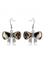 Fashionable And Sexy Butterfly Knot Leopard Earrings