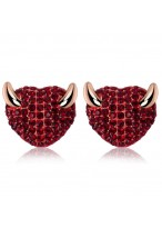 Fashionable Small Damon Swarovski Rhinestone Earrings