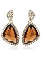 Unique Geometric Shape Crystal Earrings