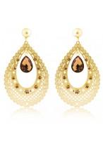 Women's Fashionable Long Bohemia Crystal Earrings