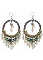 Bohemia Retro HoopSilver Earrings
