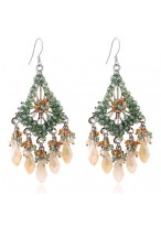 Bohemia Tassel Long Crystal Earrings