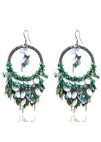 Bohemia Tassel Ring Crystal Earrings
