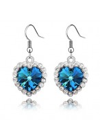 The Heart Of Ocean Gold Plated Crystal Earrings