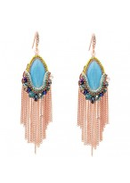 Bohemia Retro Tassel Crystal Earrings