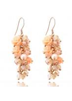 Romantic Rose Crystal Earrings