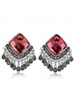 Fashionable Retro Tassel Crystal Earrings